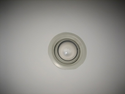 Before image show gaps around recessed lighting