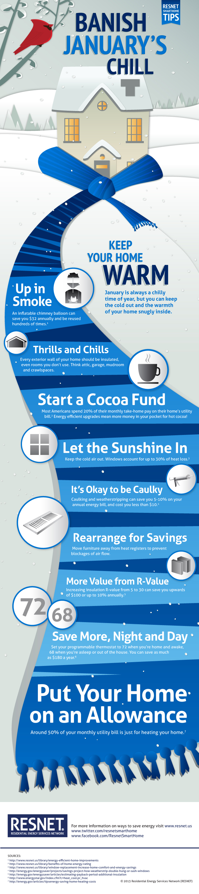 This infographic offers great tips on what you can do to keep your home warm in winter.
