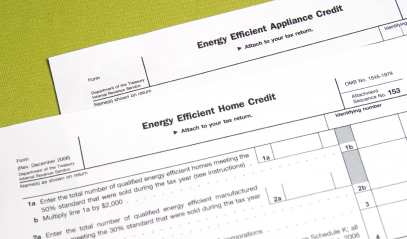 Application forms for energy tax credits