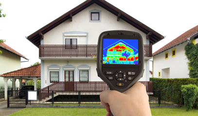Thermal image of a home