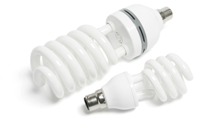 2 energy efficient light bulbs